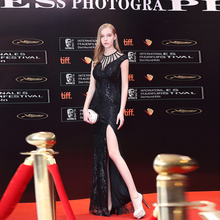 Sweetheart Floor-Length With Slit Mermaid Black Slevessless Sexy Real Photo Customized Fashionable New Arrival Elegant 2018