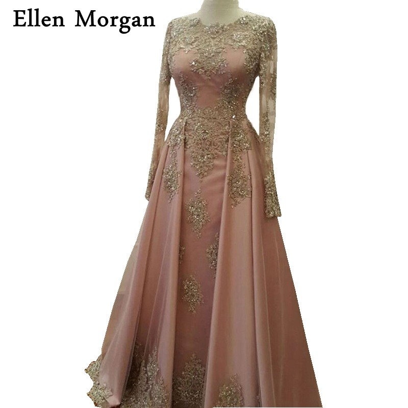 Saudi Arabia Evening Dresses 2019 Dubai Kaftan Lace Appliques Beaded Beautiful Elegant Party Moroccan Long Muslim Formal Gowns