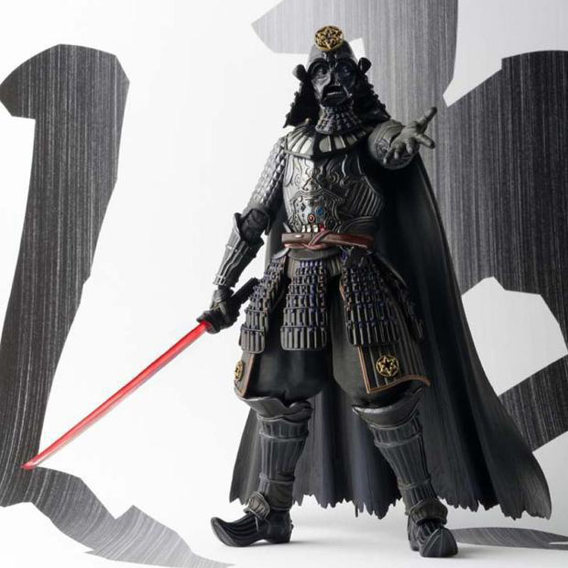 Free Shipping 7 Star Wars Samurai Taisho Darth Vader Armor 2nd Ver. Boxed 18cm PVC Action Figure Model Doll Toys Gift saintgi star wars darth vader action figure light and sound pvc 22cm model toys kids gifts collection free shipping
