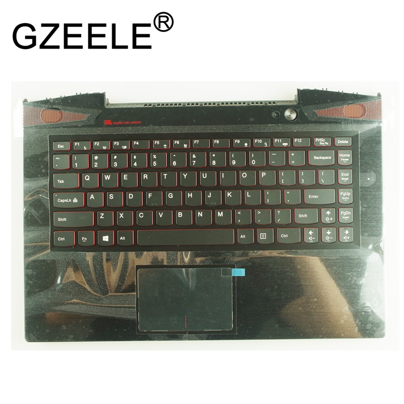 GZEELE NEW FOR Lenovo IdeaPad y40 Y40-70 Y40-80 Y40P AT-IFI-ISE palmrest upper case keyboard bezel with touchpad US version цена в Москве и Питере