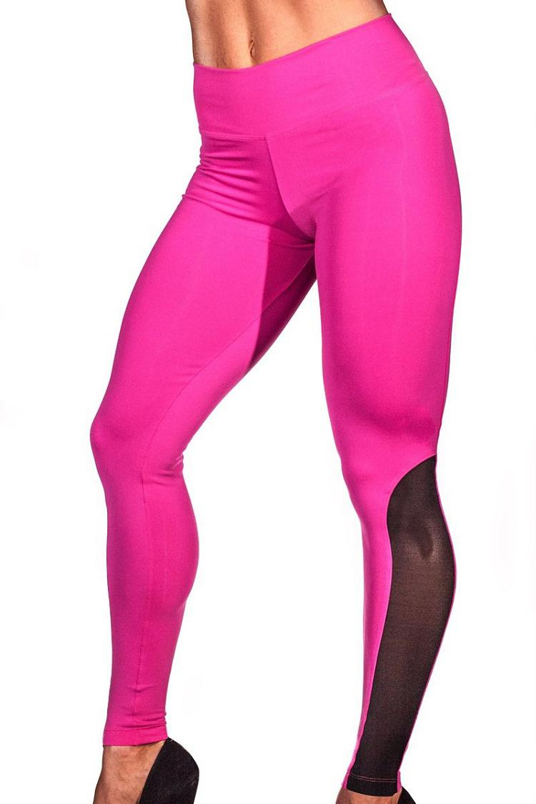 2018 Leggings Women Mesh Splice Tights Fitness Slim High Waist Black Scrunch Legging Sportswear Clothing Gym Leggings Tracksuit 7