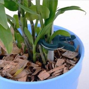 Image 4 - 20Pcs 나무 식물 꽃 모종 줄기 지원 정원 도구 봄 클립 내구성 비바람에 견디는 플라스틱 식물 클립