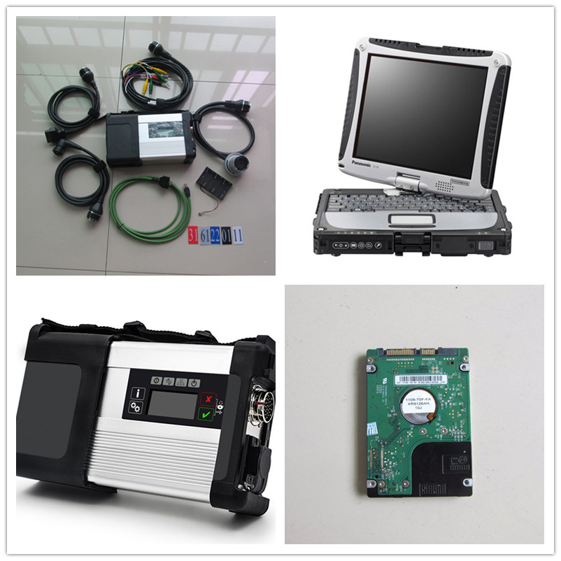 For Benz sd connect 5 <font><b>mb</b></font> <font><b>star</b></font> <font><b>c5</b></font> with cf19 laptop 2019.09 software 320gb hdd diagnostic tool for cars and trucks ready to use image