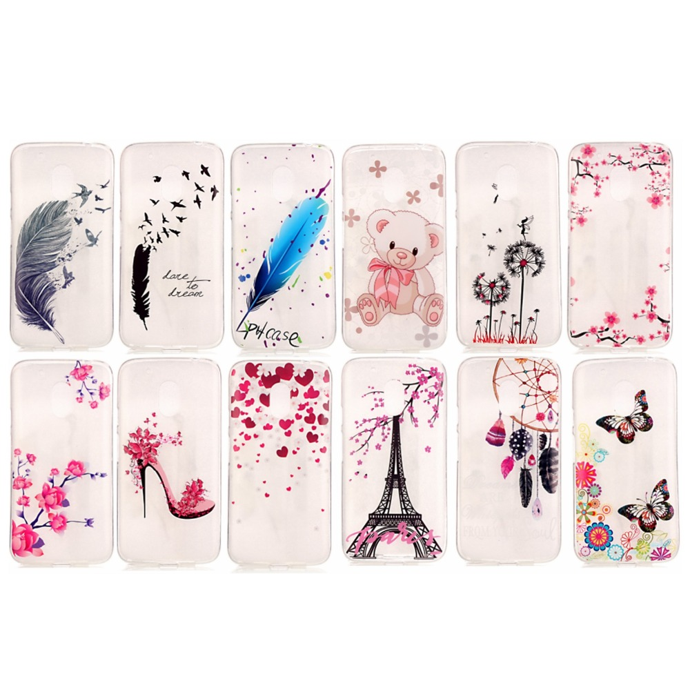 For Motorola Moto G4 Case G4 Plus Cases Cover Anti-proof Phone Case Pretty Diverse Pattern TMD+TPU Soft Silicone Cover Case