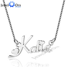Russia Name Necklace Personalized Engrave 3 Color 925 Sterling Silver Pendant Necklace Gift For Girlfriend (JewelOra NE101622)