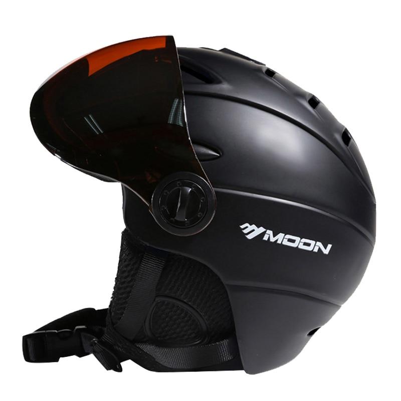 MOON Goggles лыжный шлем CE сертификация безопасный лыжный шлем с очками Катание на коньках скейтборд катание на лыжах сноуборд шлем PC + EPS - 2