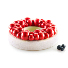 Silicone Mold Cherry Bubble Crown For Cake Decorating Tools Desserts 3D Cakes Mould Kitchen DIY Baking Bakeware Mousse Brownie