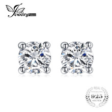 JewelryPalace Round 1ct Pure 925 Sterling Silver Stud Earrings For Women Gift Fashion Jewelry For Women