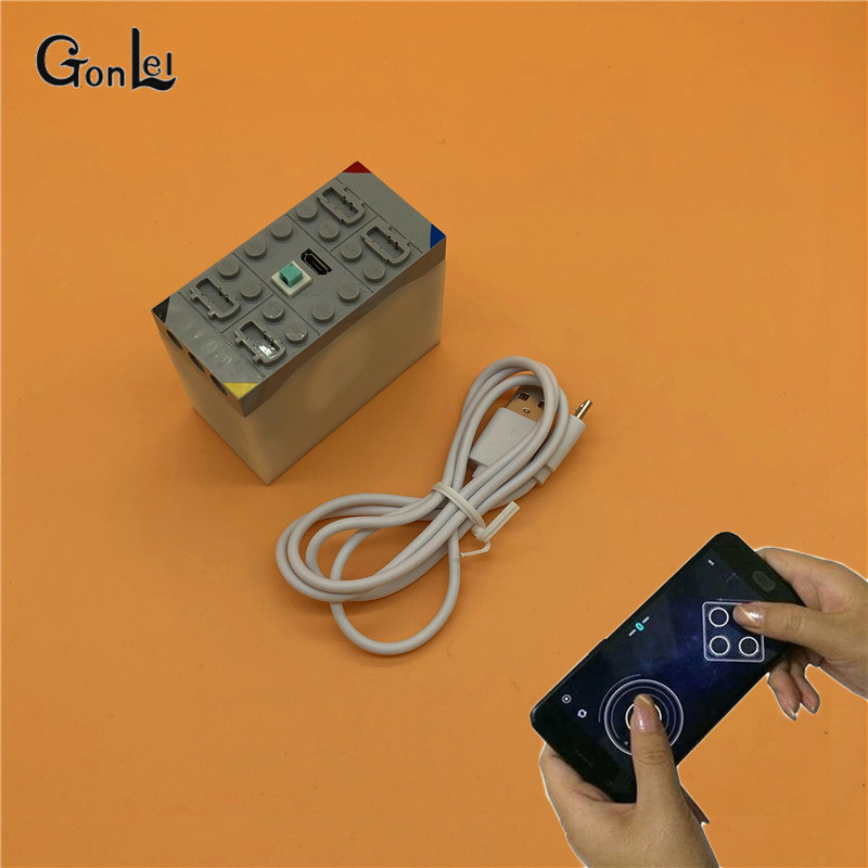 NEW Creative Phone Bluetooth Remote Control 4 channels Lithium Battery Box Building Blocks Compatible with Sbrick