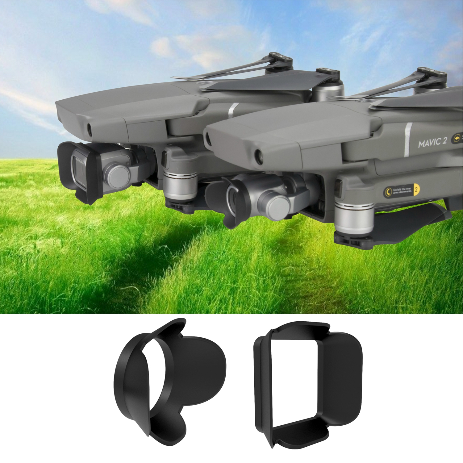 Mavic 2 Camera Lens Sun Hood Cover Sun Shade Anti-glare Sunshade Gimbal Camera Protector For DJI Mavic 2 Pro Zoom Spare Parts