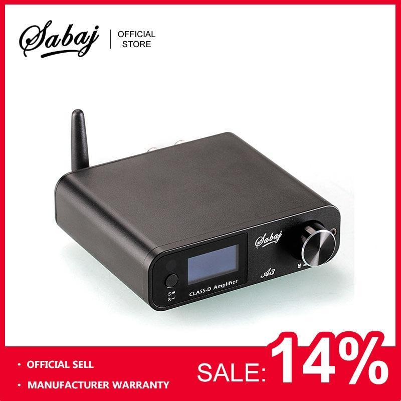 Sabaj A3 80Wx2 цифровой усилитель Bluetooth Портативный аудио hi-fi Hifi усилитель класса D USB/оптический/Bluetooth/Aux аналоговый Вход BT4.2