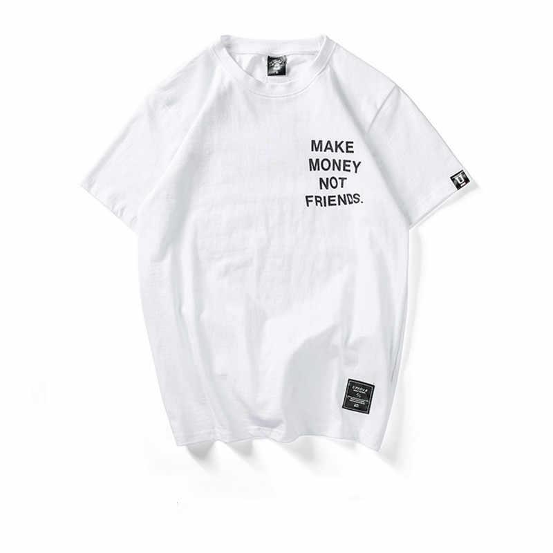 FOJAGANTO moda erkek t-shirt yaz marka yüksek kaliteli Hip Hop mektup baskı erkekler T gömlek 2019 erkek pamuk T gömlek