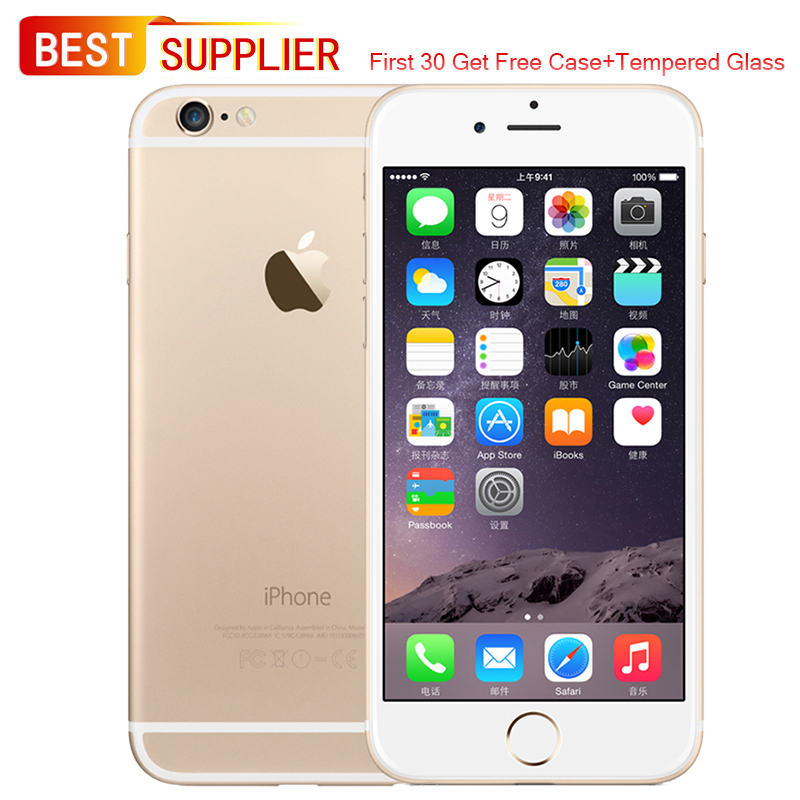 APPLE iPhone 6 4G LTE Smartphone, 4.7 inches, 16GB/64GB/128GB Optional, Looks Like New, 1 Year Warranty, Free Film Case as Gift