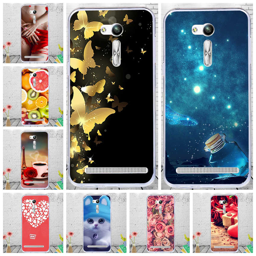 J&R Patterned Phone Case For Asus Zenfone Go ZB552KL X007D Silicone Cover Soft TPU Cases Cartoon Animals Shell