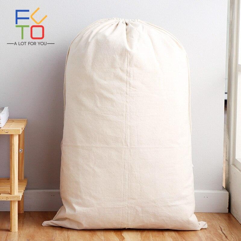 75 cm x 48 cm Leinwand Kordelzug Wäschesack Spielzeug Schmutzige Kleidung Hause Lagerung Kordelzug Waschkorb Bin Santa Sack