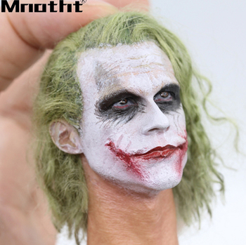 1/6 Scale Robbery Joker Head Sculpt With High Quality Hair Wigs Head Model for 12inch Action Figure Collection Toys m3
