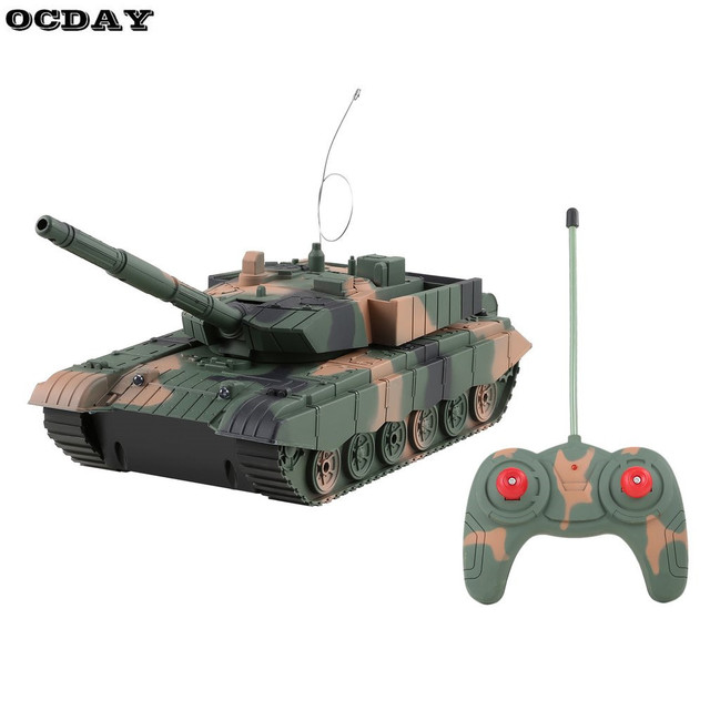 US $29 26 |OCDAY RC Tank Toy Remote Control Power Armored Tank Battle Tanks  Turret Rotation Music Light RC Military Model Vehicle Toy Gift-in RC Tanks