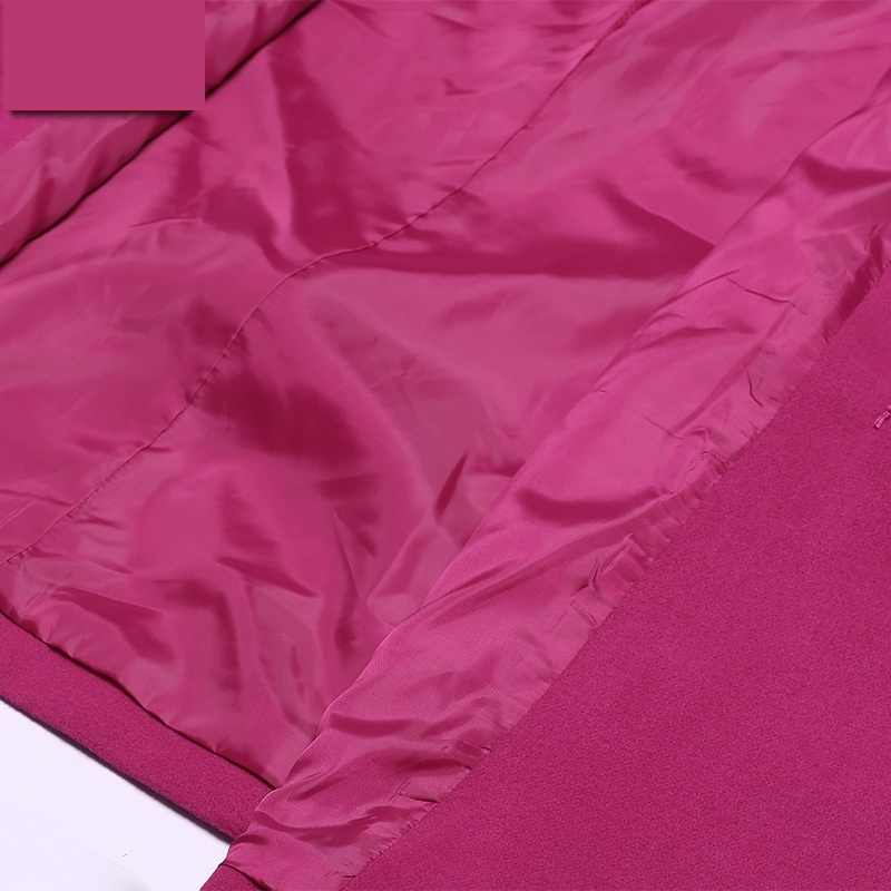 Überdimensionalen 6XL 7XL 8XL 9XL 10XL Herbst/winter Woolen Jacke Frauen Mantel Koreanische Dünne Langen ärmeln Wolle Mantel Lässig kleidung