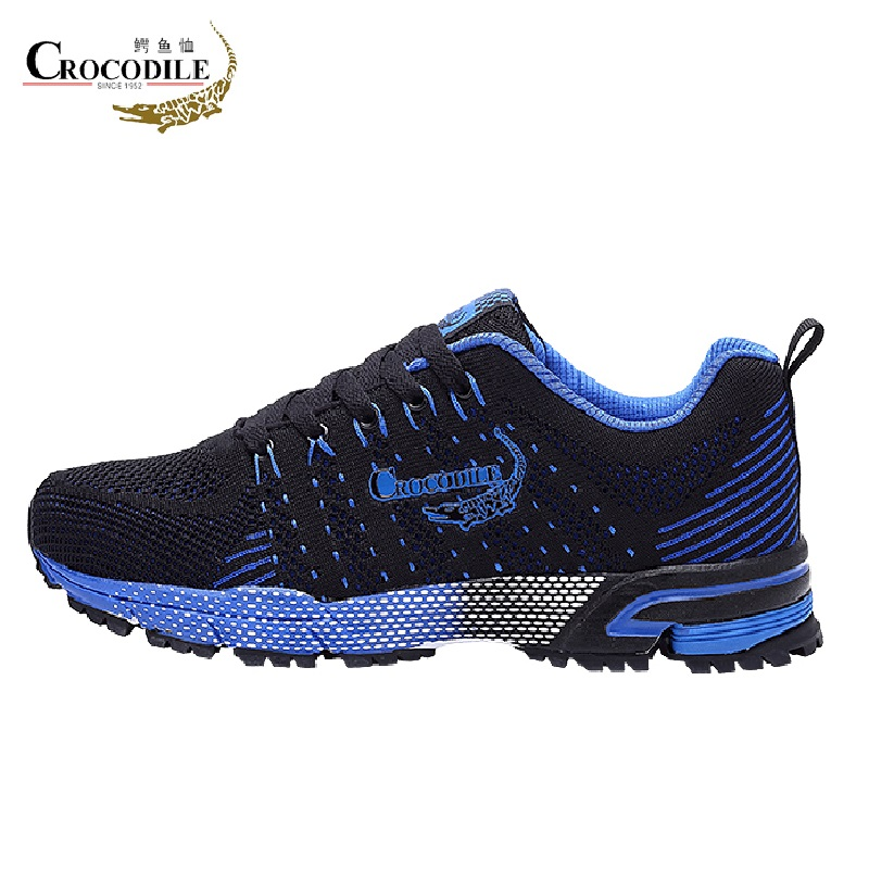 Crocodile Men Air Mesh Running Sneaker Shoes Tennis Hombre Trainer Cushioning Jogging Sport Shoes Men Fabric