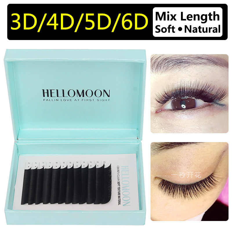 ff65d047137 0.07 eyelash extension individual, mix length bloom lash, 3D 5D 6D 10D  eyelash extension