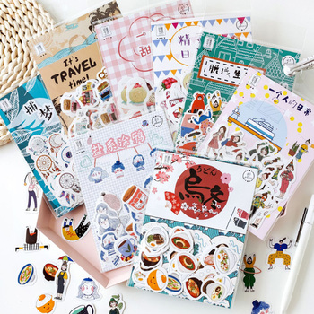 45pcs/pack Kawaii Japan Decorative Stickers Scrapbooking Stick Label Diary Stationery Album Stickers lovely chunky corgi warm embrace decorative washi stickers scrapbooking stick label diary stationery album stickers