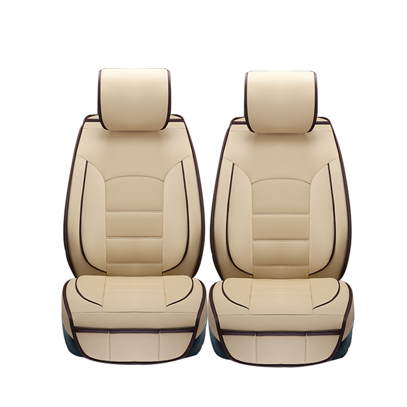 (Only 2 front) leather car seat covers for Lada Granta Largus priora kalina niva car ACCESSORIES car styling ouzhi for lada granta largus priora kalina pu leather weave ventilate front
