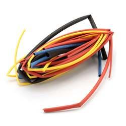 126 см термоусадочные термоусаживающаяся труба трубки обертывания провода Электронные изоляции комплект материалов 1 мм 1,5 мм 2,5 мм 3 мм 4 мм