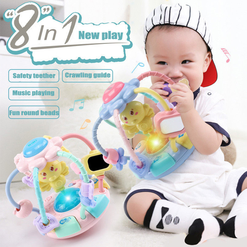 Baby Toys 13-24 Months Multicolor Musical Baby Rattle Toddler Boy Toy Grab Bell Newborn Kids Babies Educational Sensory Toys