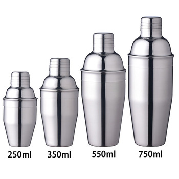 1Pcs 250/350/550/750ml Stainless Steel Cocktail Shaker  Bar Tools 1