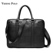 VIDENG POLO Brand Leather Bag Casual Men Handbags Men Crossbody Bags Men's Travel Bags Tote Laptop Briefcases Men's Bag
