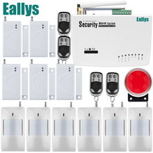 Free shipping Wireless home security alarm system for Frequency is 900/1800/1900 White gsm alarm system 433MHz