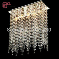 wholesales new rectangular crystal chandelier living lights L800*w300*H1000mm