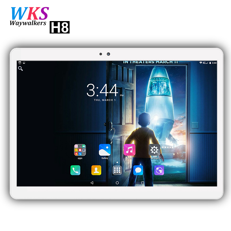 Free shipping 10 inch 4G LTE phone tablet PC 10 Core Android 7.0 RAM 4GB ROM 64GB Dual SIM Card 1920x1200 IPS Bluetooth tablets