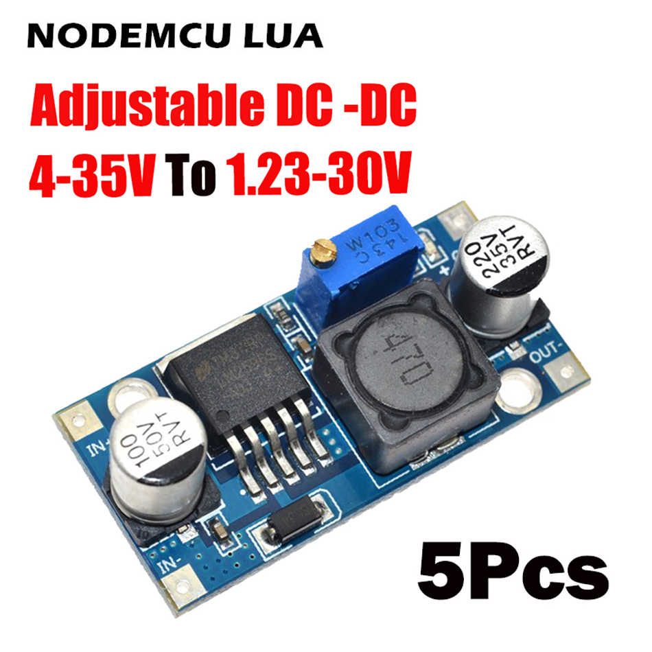 5pcs LM2596S-ADJ DC-DC adjustable step-down Voltage regulator power supply MODULE BOARD 3A Buck Converter LM2596s LM2596