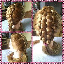 Professional Blonde Training Heads Hot Sale Hair Mannequins Hairdress Hair Styling Mannequin Female Head Cosmetology Free Gifts