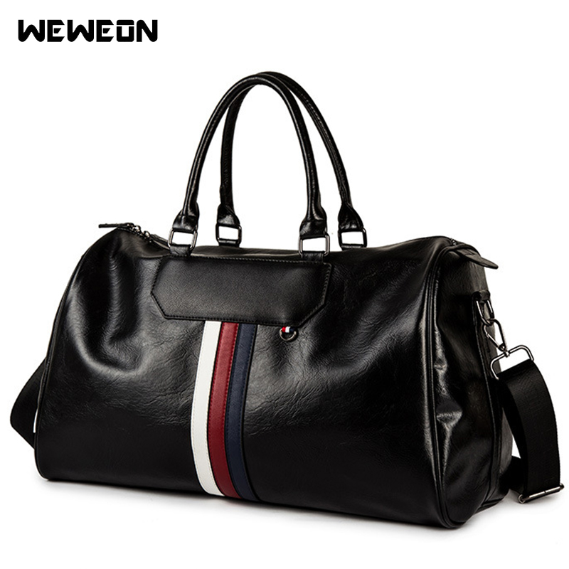 PU cuir sport sac de sport bande sacs d'entraînement femmes hommes élégant Fitness sac à main grand voyage/bagages fourre-tout sac sport