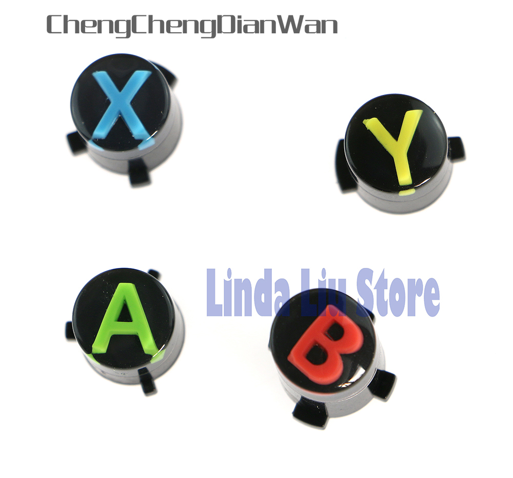 ChengChengDianWan For XBOX ONE Wireless Controller For XBOXONE Button ABXY LOGO Set Mod Kit Repair Parts Controller Parts