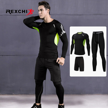 3 Pcs Men Sports Suit Set
