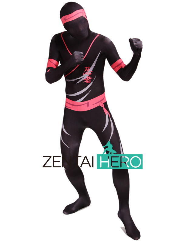 Free Shipping DHL New Printing Ninja Costume Dyeing Lycra Spandex Zentai Suit Cosplay Halloween Events Costume YWYS05