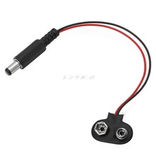 1 PC 9V Battery Snap T Type Clip Lead Wire Connector Power Supply Cable(China)
