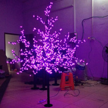 Christmas New year decor  LED Cherry Blossom Tree 864pcs Pink LED Bulbs 1.8m/6ft Height 110/220VAC Rainproof Outdoor Usage