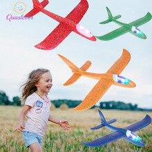DIY Дети ручной бросок Летающий планер игрушки-Самолеты детская пена модель аэроплана вечерние мешок наполнители Летающий планер самолет игрушка игра 48*48