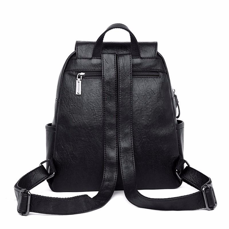 HTB1OBgJadjvK1RjSspiq6AEqXXa3 2019 Female Leather Backpacks High Quality Sac A Dos Ladies Bagpack Luxury Designer Large Capacity Casual Daypack Girl Mochilas