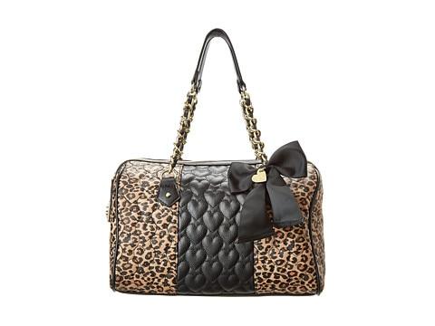 여성 핸드백 Heart-quilted faux leather는 sweet grosgrain bow와 - 핸드백