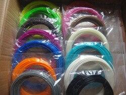22 cor ou 20 cor ou 10 cor/conjunto 3d caneta filamento abs/pla 1.75mm material de impressão de borracha plástica para impressora 3d caneta filamento