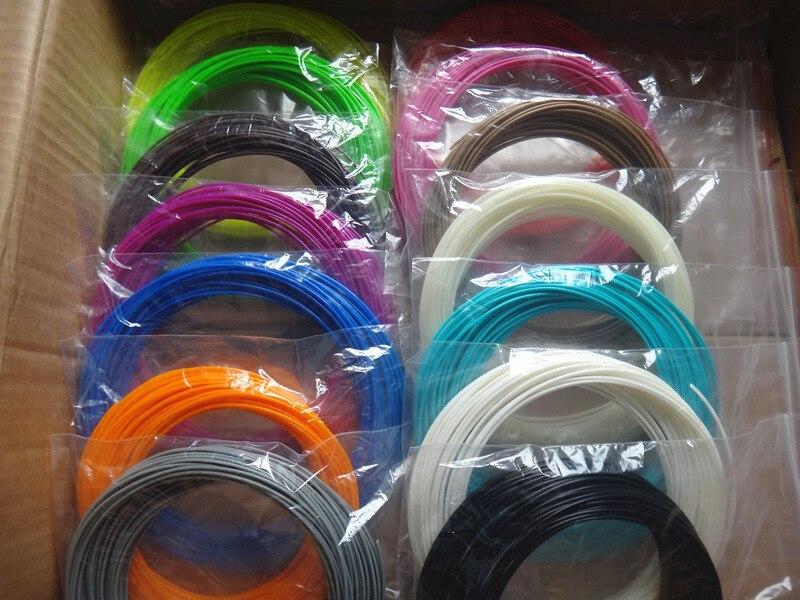 Cor ou cor ou 10 20 22 cor/set 3D Caneta Filamento ABS/PLA 1.75 milímetros De Borracha De Plástico material de impressão Para A Impressora 3D Caneta Filamento