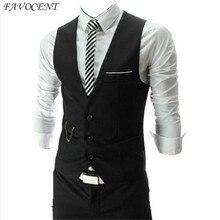 FAVOCENT brand Hot Sale 2017 Autumn Men s Slim Fit Dress Suit Vest Waistcoats Men Gilet