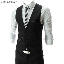 FAVOCENT brand Hot Sale 2018 Autumn Men s Slim Fit Dress Suit Vest Waistcoats Men Gilet