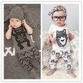 Summer Baby Boys Clothing Set Cotton Cartoon Little Monster T shirt Pant Baby 2pcs Set Kids Boy Short Sleeve Clothes Set