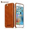 Jisoncase para iphone 6 s 4.7 polegada caso capa de couro genuíno para iphone 6 sacos & casos de telefone marca de luxo